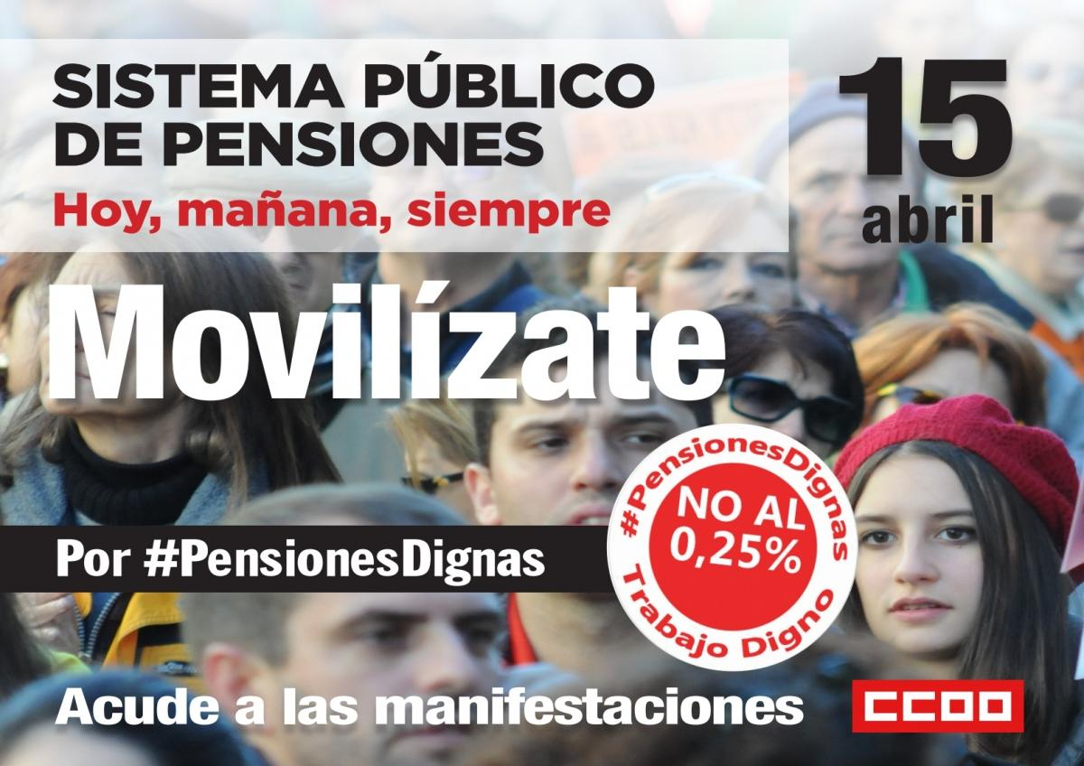 Movilizaciones Pensiones Dignas, 13, 14 y 15 abril