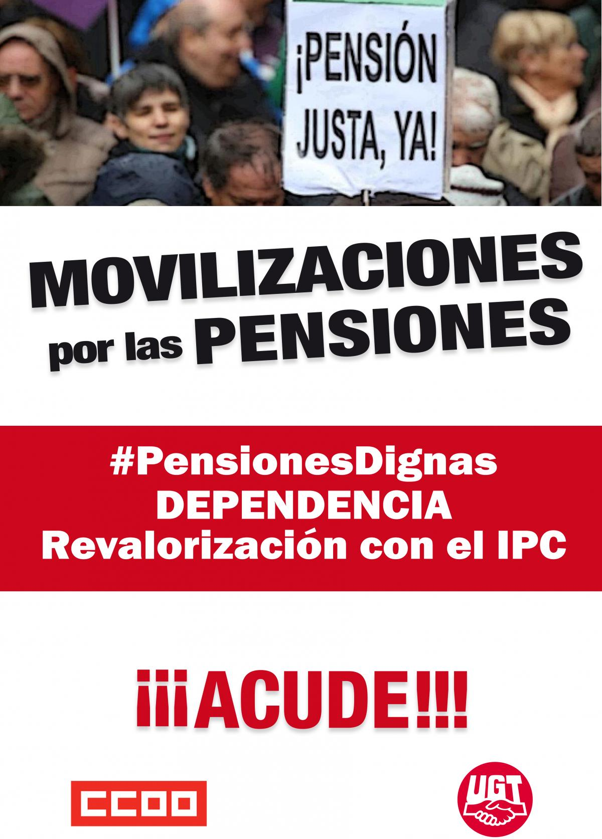 Cartel Movilizaciones por las Pensiones